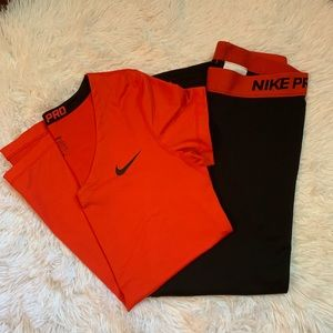 Women's Nike pro outfit